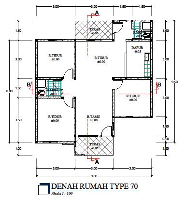 jual gambar desain rumah minimalis type 70 kaskus