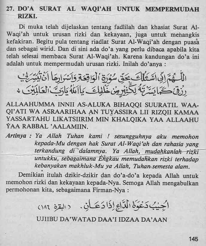 Balasan 7345 Dari Amalan Kerejekian Baca Surat Waqiah 3x