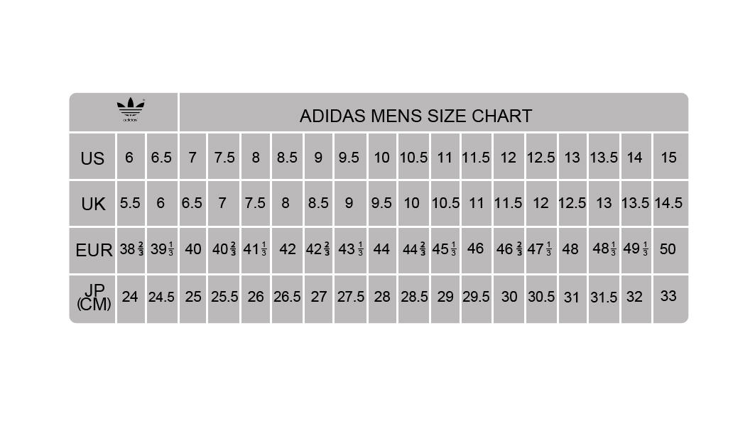 Adidas Shoes Chart