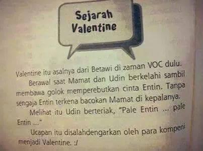 Humor Asal Usul Kata Valentine Versi Orang Betawi Kaskus