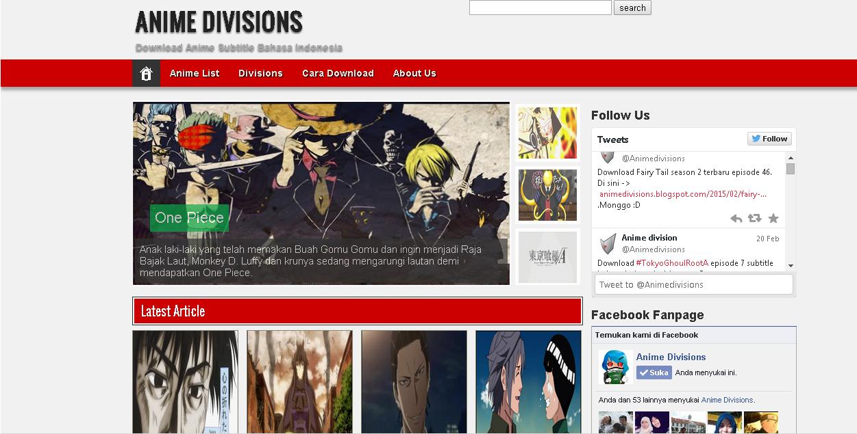 Fansub anime subtitle indonesia tempat download anime gratis dan gak ribet