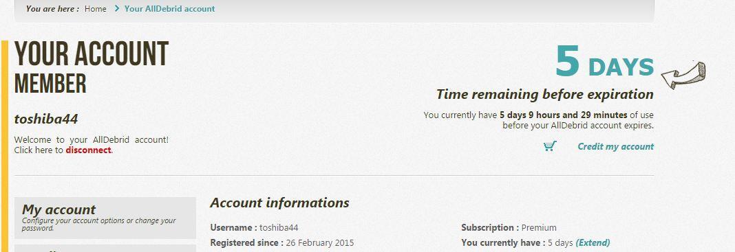AllDebrid Premium Account 6 days zev*ra dan MULTIH*STERS dll | KASKUS