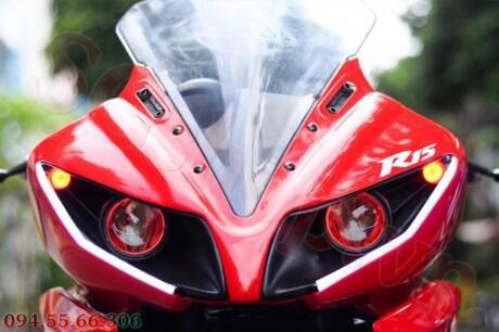 Top modifikasi lampu depan r15 merah