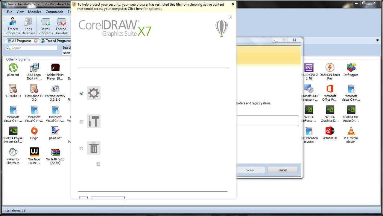 how to uninstall corel draw completely