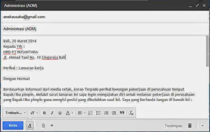 Tutorial Mengirim Surat Lamaran Kerja Via Email Kaskus