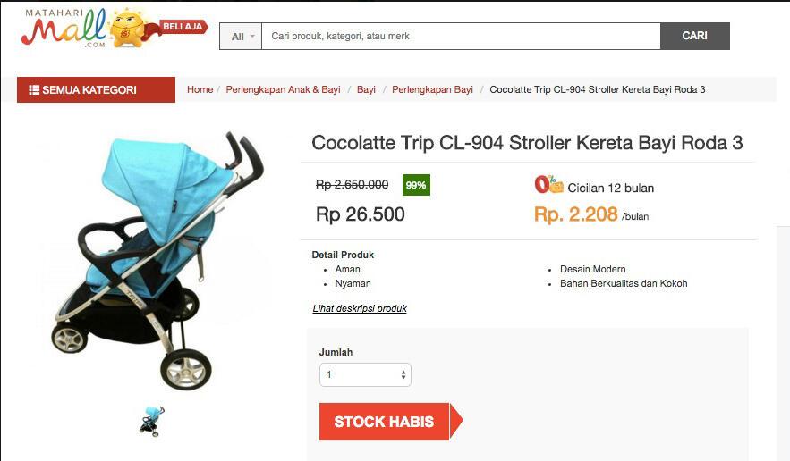 Kereta Dorong Bayi   Temukan penawaran terbaik dari 3 toko online di sini d39e50bcab