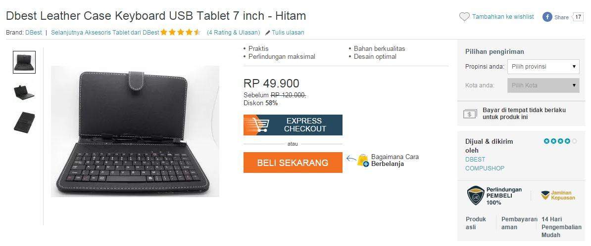 surga diskon harbolnas leather case keyboard 7 inch amp other size