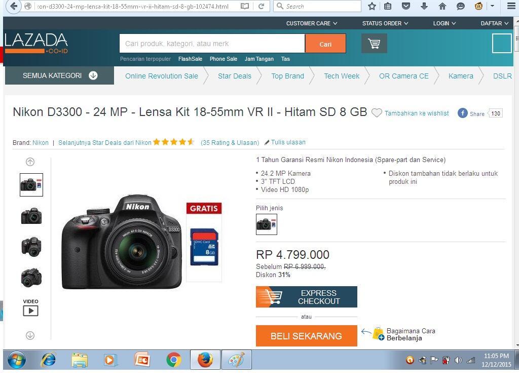 Nikon D3300 Kit 18 55mm Temuin Harga Yang Pas Dari Penawaran Ini Vr Hitam Kaskus