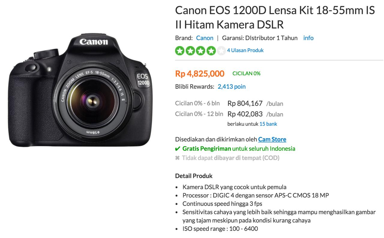 Temukan Termurah Canon Eos 1200d Kaskus Lensa 18 55mm Kamera Kit