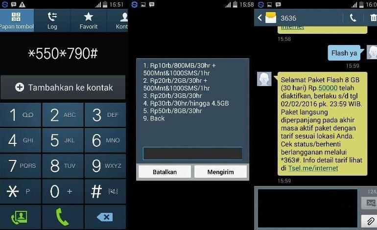 Cara Daftar Paket Internet Telkomsel Super Murah 8gb Hanya Rp50