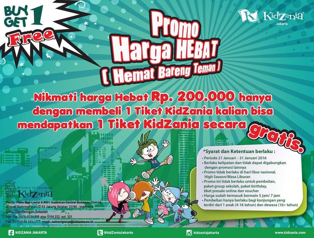 [BUY 1-1 FREE] Kidzania Jakarta : Harga 200K berlaku hanya sampai 31