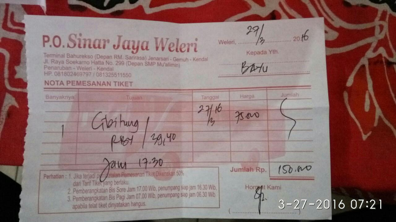 Sinar Jaya 56ac Weleri Cibitung Rawabuaya Kaskus