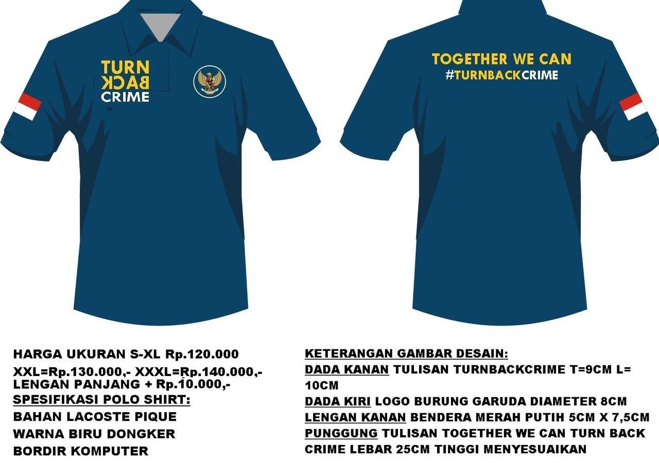 Pre order polo shirt turn back crime versi garuda di for Order custom polo shirts