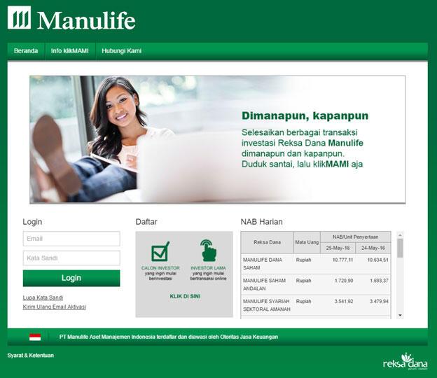 Investasi Online Reksadana Praktis Manulife