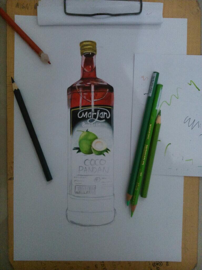 Menggambar Botol Sirup Marjan Realistis Page 4 Kaskus