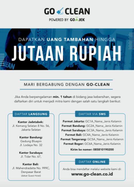 Lowongan Go Massage Go Clean By Go Jek Kaskus