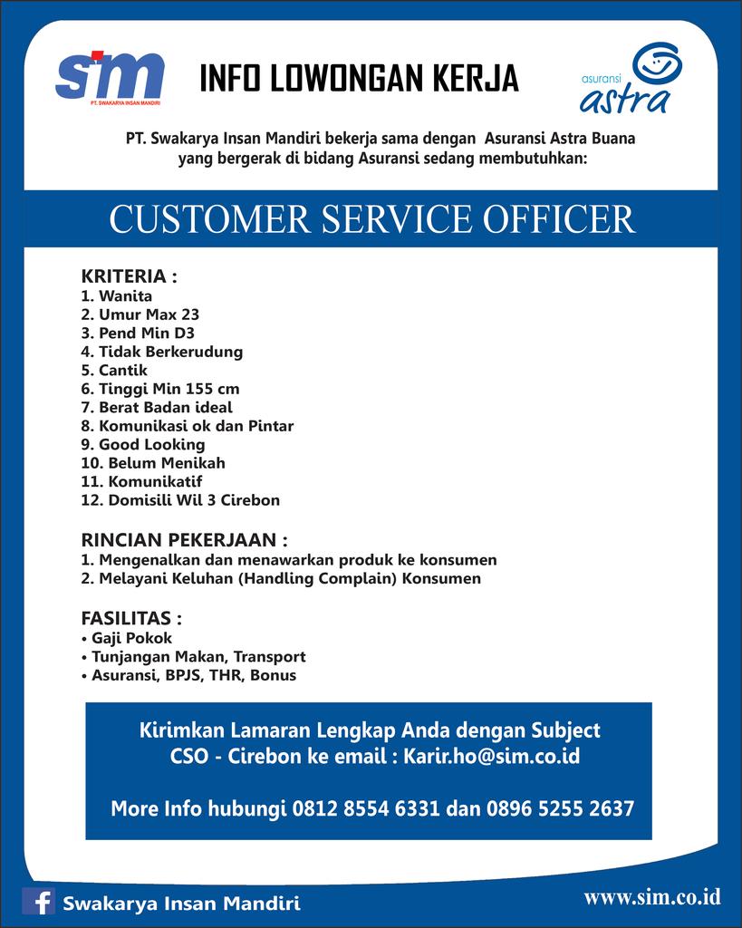 Image Result For Lowongan Kerja Customer