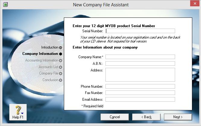 myob 12 digit serial number