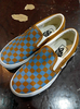 Vans Classic Slip On Checkerboard Blue/Brown size US 4 / EUR 35 ORIGINAL!