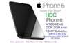 HDC iPHONE 6 - MT6582 REAL QUADCORE - REAL RAM 2GB - BLACK + SILVER + GOLD