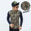 Kemeja Combination Leopard Skin Pattern Yellow n White