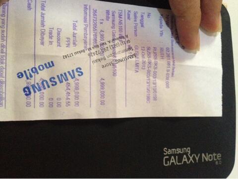 harga WTS Fast sale Samsung Galaxy NOTE 8.0 GT-N 5100 pembelian SEIN ex wanita Bekasi Kaskus FJB