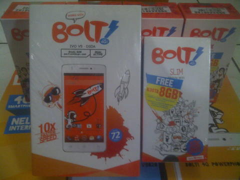 WTS Handphone PowerPhone BOLT 4G IVO V5 & ZTE V9820 Bundling Mifi Slim