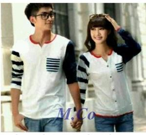 Navin Couple Baju Fashion Rajut Model Korea Modis Dan