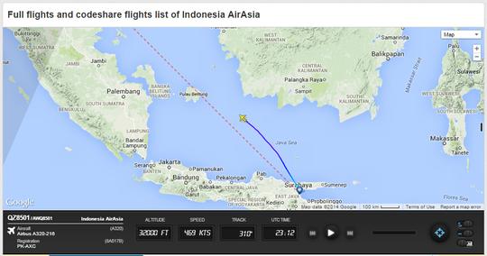Pesawat AirAsia Jurusan Surabaya - Singapura Hilang Kontak