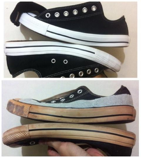 Image result for sepatu yellowing