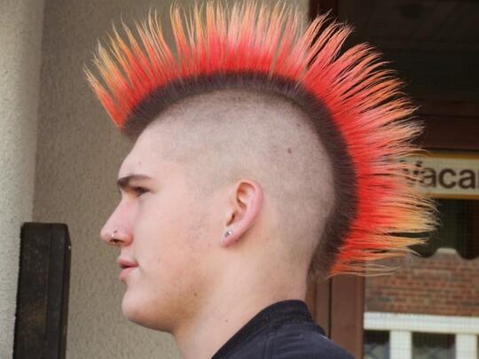 Как сделать панк причёску