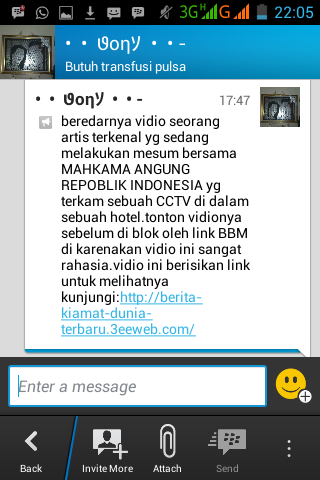 Share Info percobaan hack BBM android