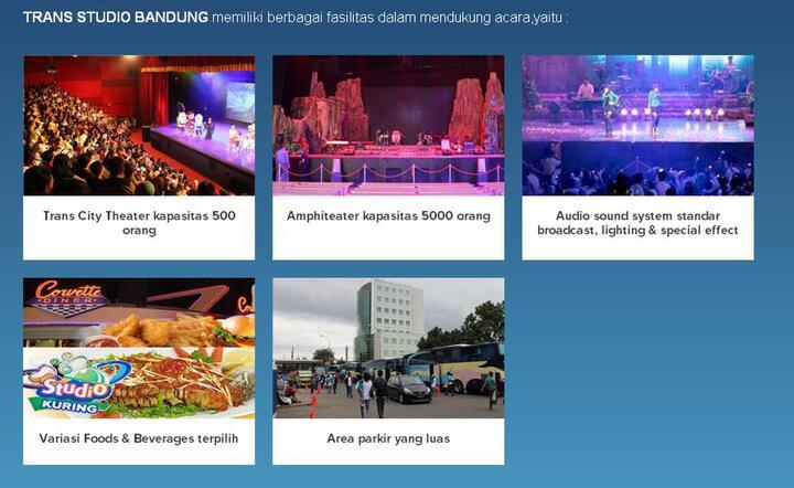 Fasilitas wisata Trans Studio Bandung