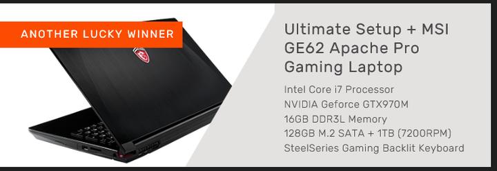 Gamer Wajib Masuk !!! Gratis Laptop MSI GE62 Apache Pro & Gears
