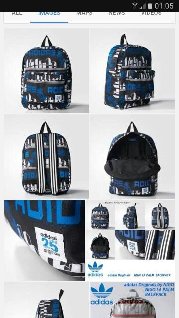 3ca5ab5e3c6a Terjual Adidas Original Tas Backpack Tucana Essential blue Bp Block ...