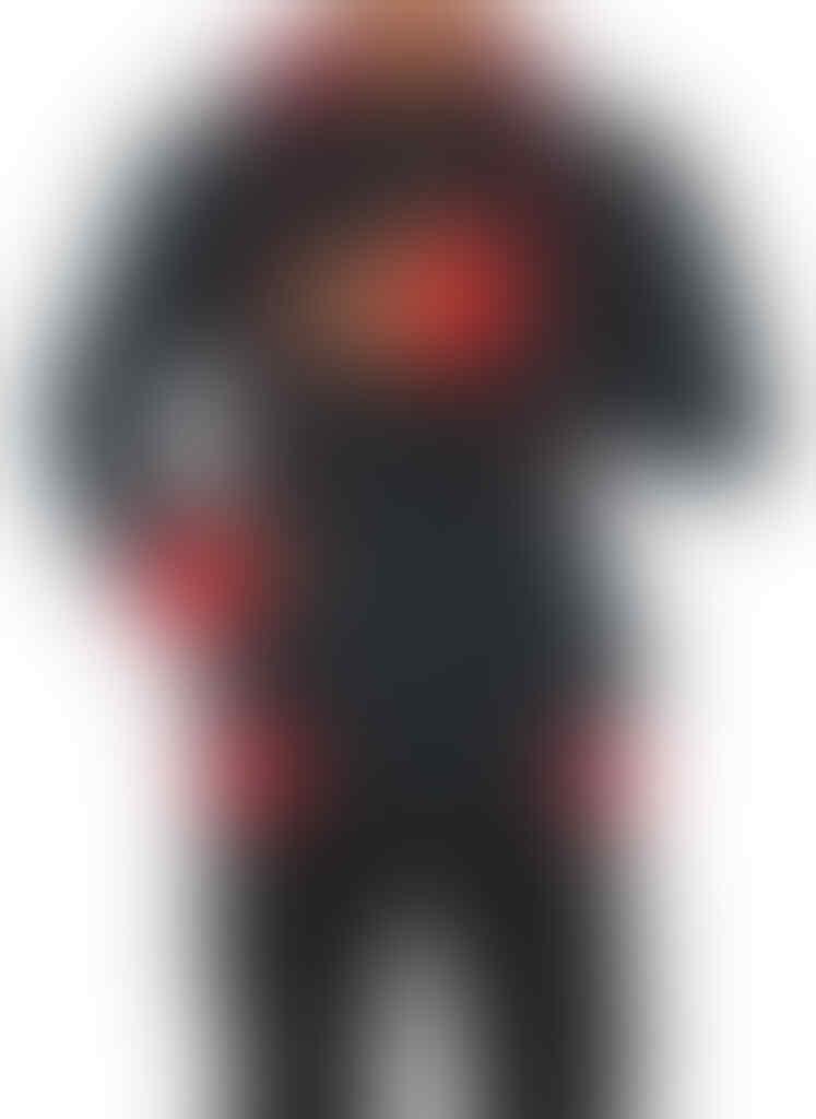 Sweater Quiksilver Lengan Bolong Hitam Merah, Harga Hanya Rp 110.000
