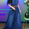 Coco Neck Jeans Maxidress