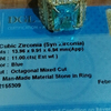 synthetic cubic zirnonia ( topaz royal blue)