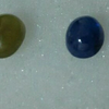 Blue Sapphire and Green Chalcedony