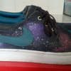 nike wardour custom galaxy (not superstar,flyknit,zx,asics)