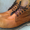 Wolverines brown safety shoes