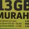 internet data indosat 11gb dan 13gb