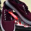 sepatu vans authentic maroon size 39 waffle lfc bandung