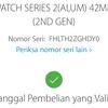 Dijual Apple watch series 2 Blue 42MM Lengkap Ori