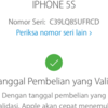 Dijual Iphone 5s Silver 64GB Finger Failed Hpcharger Lte FU