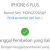 Dijual Iphone 6 plus 64GB Gold Lengkap Ori Lte FU Resmi Ibox
