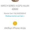 Apple Watch Serie 4 40mm - Space Gray - BNIB Segel - Non Aktif - Muraah