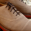 Gorye Creme Brown Suede Leather Shoes
