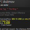 CS:GO AWP Asiimov FT with Crown Sticker