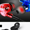 W1pro Stereo Bass Earphone Sport Headset With Mic + Detachable Cable